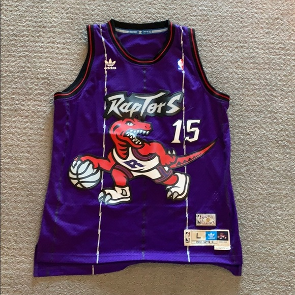 the latest 506a9 f0f86 Vince Carter Raptors Jersey Hardwood Classics